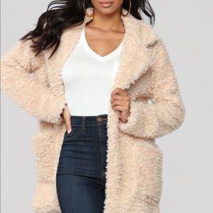 Fashion Nova Touch of Heaven Jacket - Beige
